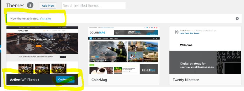 How To Activate Free WordPress Themes
