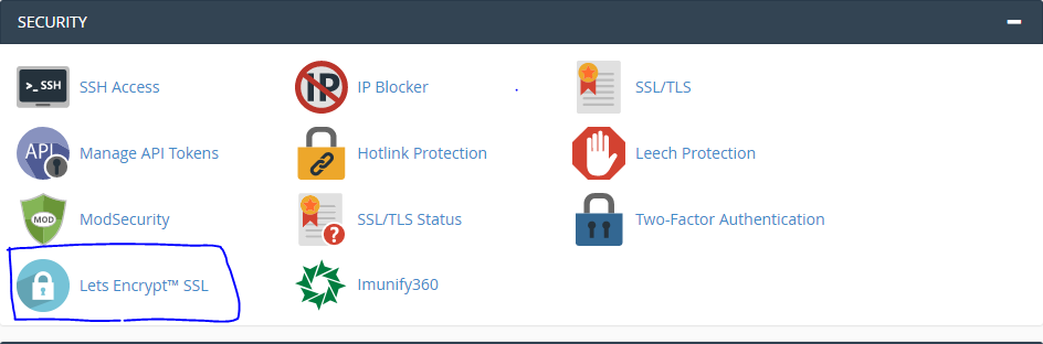 Free SSL Certificate from Lets Encrypt in Chemicloud cPanel