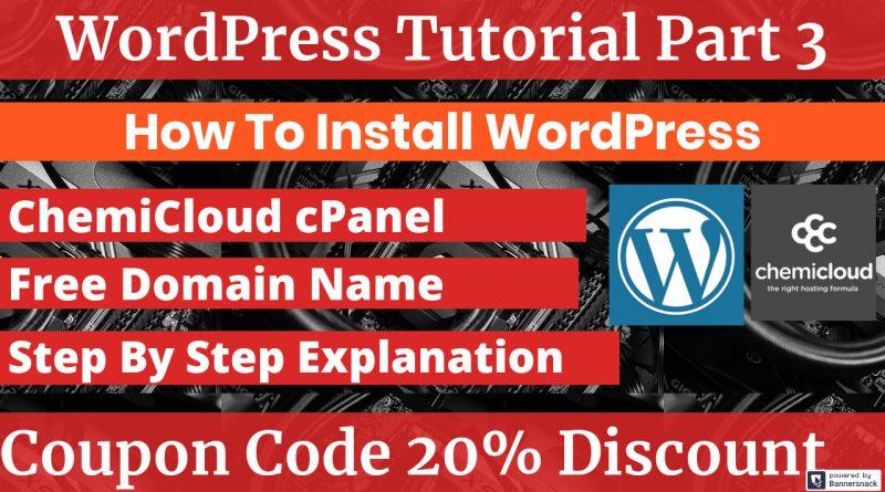 How To Install WordPress From ChemiCloud cPanel