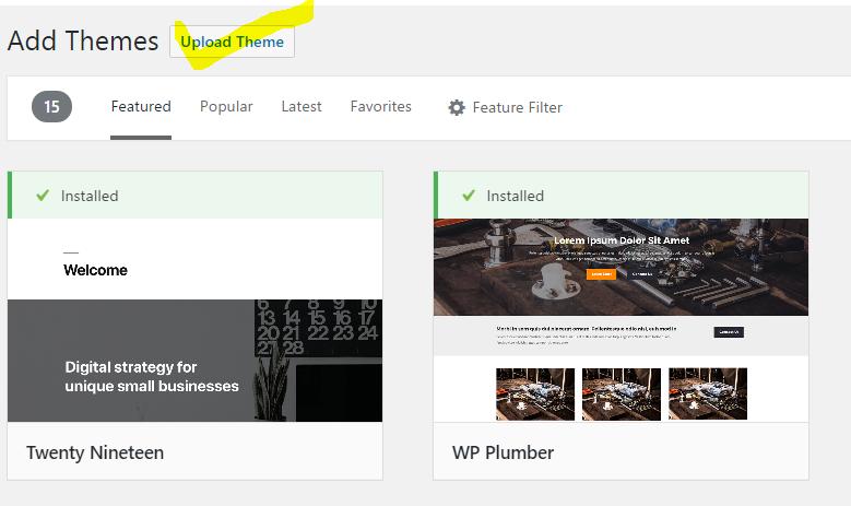 How To Upload Free WordPress Themes