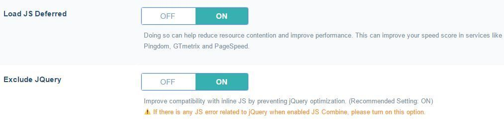 Defer JS Load and Exclude jQuery Optimization