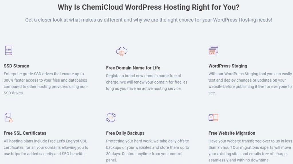 Pros Of ChemiCloud WordPress Hosting