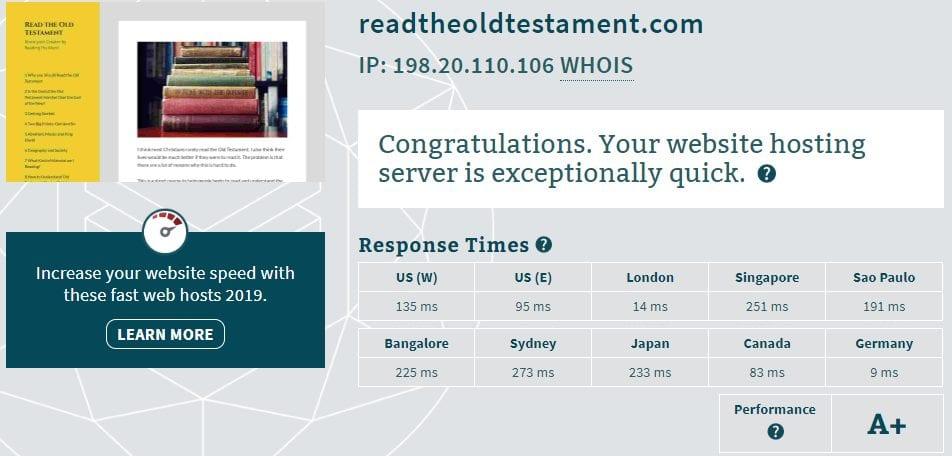 TMDHosting Reviews Server Response Time