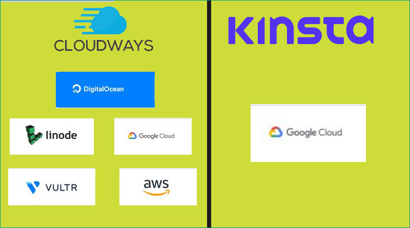 CloudWays vs Kinsta Cloud Hosting Providers
