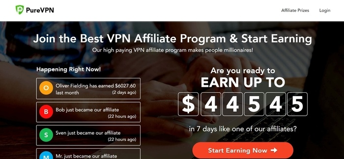 PureVPN Recurring affiliate Programs