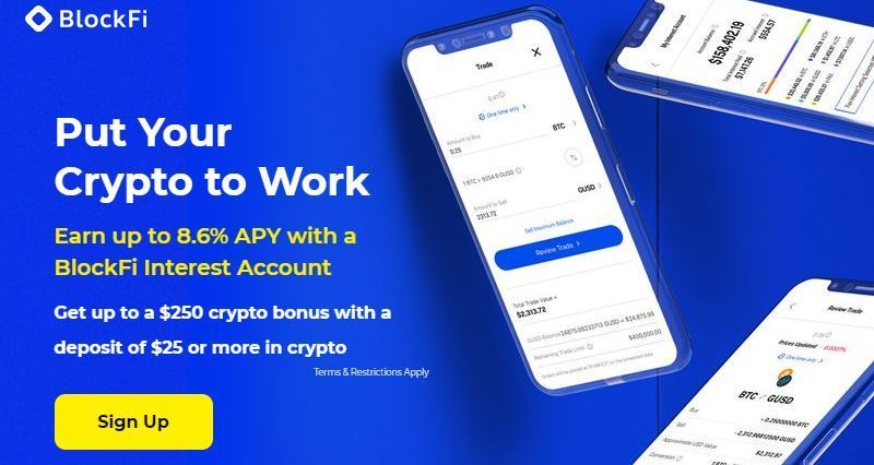 Earn Bitcoin Interest From BlockFi Wallet