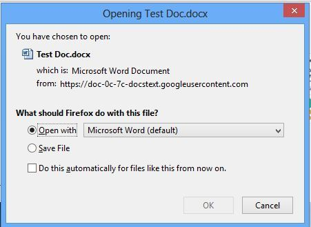 Google Workspace Doc Direct Download Link